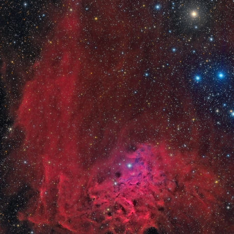 IC 405 HaLRGB Flaming Star Nebula (Image of the day in Astrobin 12/09/2015)