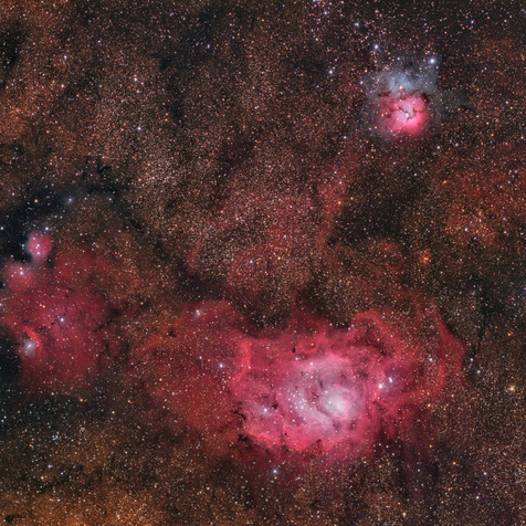 Campo M8,  M20 y NGC 4685 (Imagen del Día en Astrobin 19/08/2014)