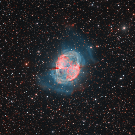 M27 Dumbbell Nebula HORGB