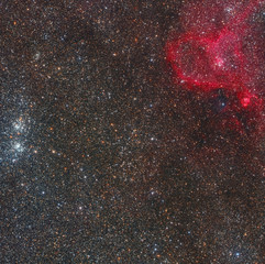 Large Double Field of Perseus and Heart