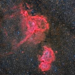 IC 1848 and IC 1805 HaLRGB