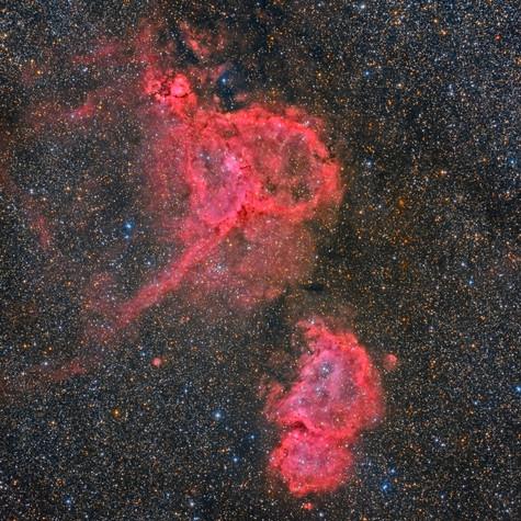 Gran Campo IC 1848 e IC 1805 HaLRGB