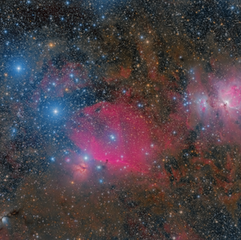 M78, IC 434 and M42 in Orión