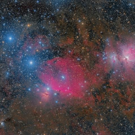 M78, IC 434 y M42 en Orión
