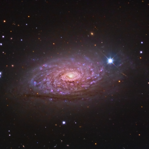 M63 Sunflower Galaxy Jim Misty data (Image of the day in Astrobin 06/19/2015)