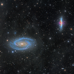 M81 and 82 galaxies surrounded by IFN