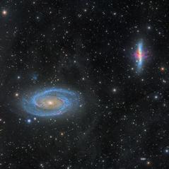 Galaxias M81 y M82  rodeadas por IFN