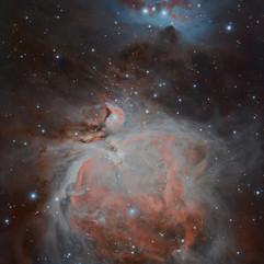 M42, M43 y el Corredor Complejo nebular en Orión