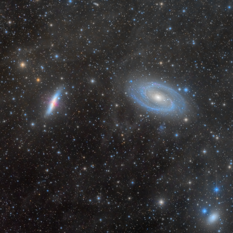 M81 and M82 surrounded by IFN