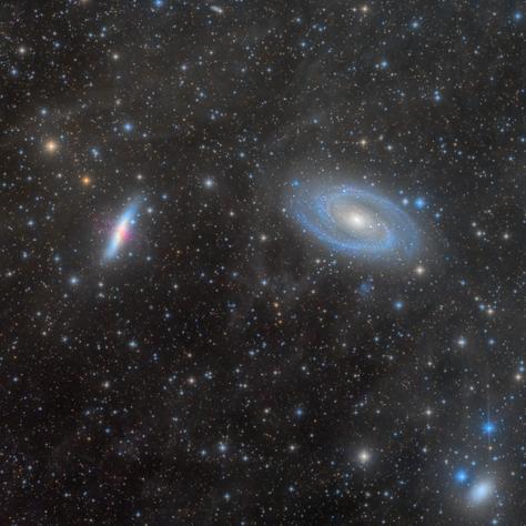 M81 y M82 rodeadas por IFN