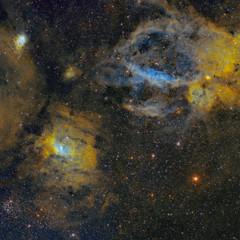 Mosaico SH2-157 y NGC 7635