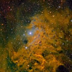 IC405 Nebulosa de la Estrella Llameante