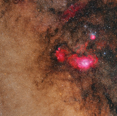 M8 and M20 in  HaLRGB