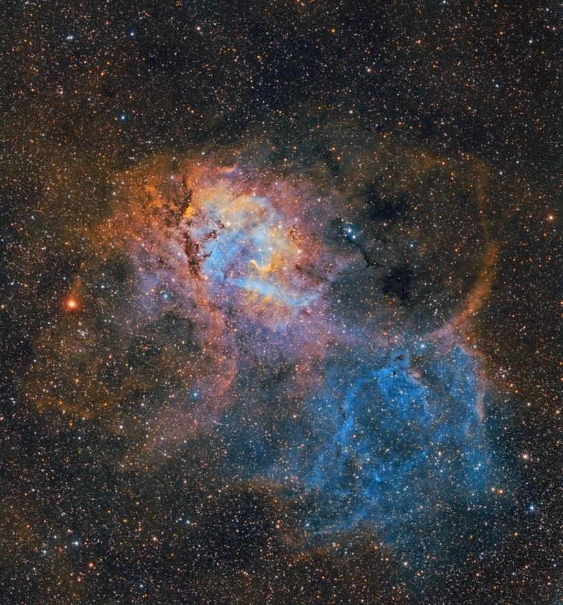 Sh2-132 Nebulosa Rey León