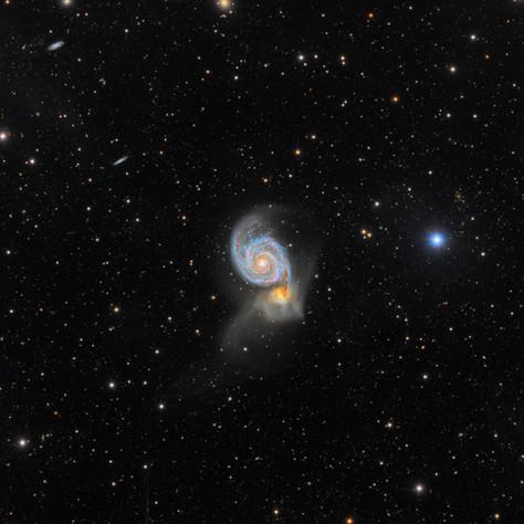 M51 Un ejemplo de  Canibalismo Galáctico (Imagen del día en Astrobin 21/03/2018)