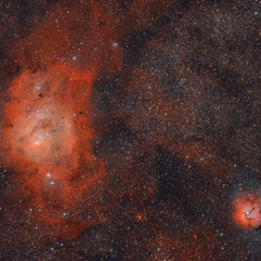 M8 Nebulosa Laguna y M20 Nebulosa Trifida