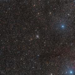 Wide Field NGC 457 ET Cluster