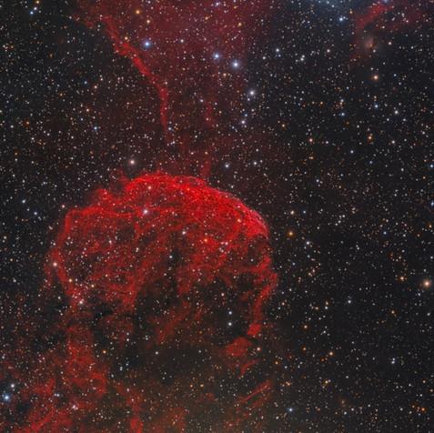 IC 443 Nebulosa Medusa Ha-SII-LRGB