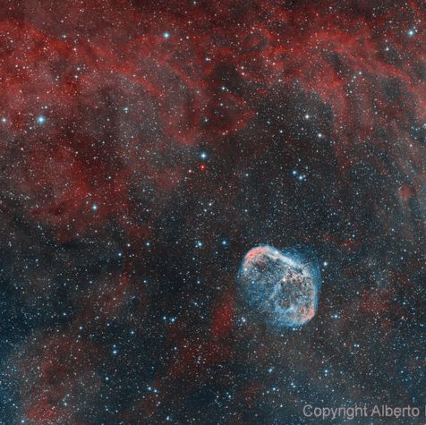 NGC 6888 Crescent Nebula in the Swan