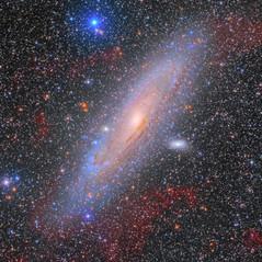 M31 y sus Nubes de Hidrógeno Alpha (Reprocesada)