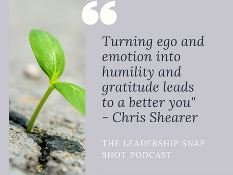 Episode 21: The importance of turning ego into humility