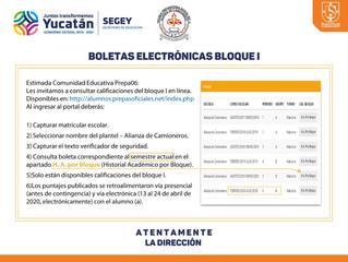 BOLETAS ELECTRÓNICAS BLOQUE I