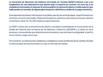 Comunicado 038 Reportes de Ventas de Plazas.