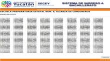 Resultados del Examen de Selección de Ingreso al Bachillerato.