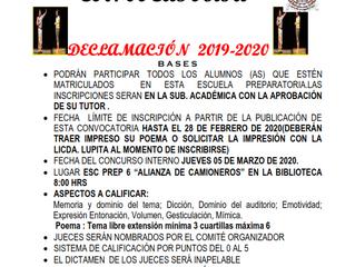 CONCURSO DE DECLAMACIÓN 2019-2020