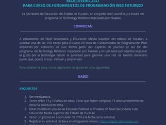 CONVOCATORIA BECA JUVENIL 2021 PARA CURSO DE FUNDAMENTOS DE PROGRAMACIÓN WEB FUTUREED