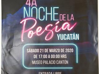 4A Noche de la Poesía Yucatán.