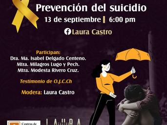 El Centro de Investigación Juvenil A.C. les invita a Prevención del Suicidio al FacebookLive