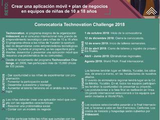 CONVOCATORIA ABIERTA TECHNOVATION CHALLENGE 2018-2019