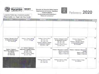 Cronograma del Laboratorio Multidisciplinario.
