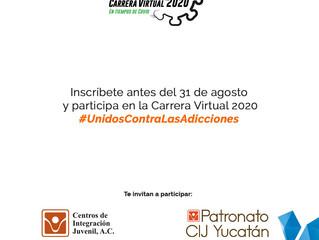 CARRERA VIRTUAL 2020, EN TIEMPOS DE COVID #UNIDOSCONTRALASADICCIONES
