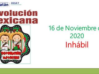 Aviso: Día Inhábil - Revolución Mexicana