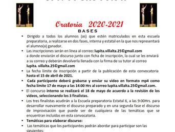 """CONCURSO DE ORATORIA 2021-2021"""