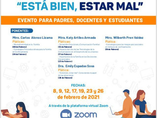 """Jornada de Pláticas Virtuales """"ESTÁ BIEN, ESTAR MAL""""."""