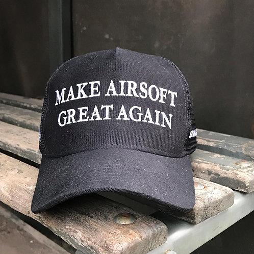 BONÉ SPARTAN BLACK - Make Airsoft Areat Again