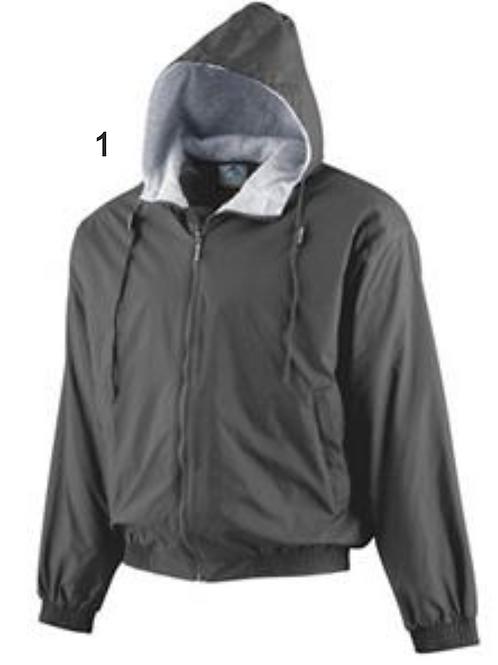 Augusta Hooded Taffeta Jacket Lined Fleece