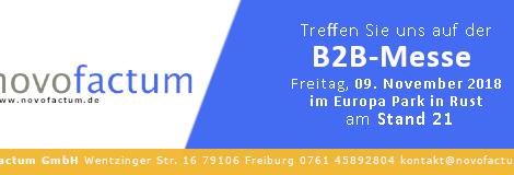 Besuchen Sie novofactum GmbH auf der B2B-Messe im Europa Park in Rust
