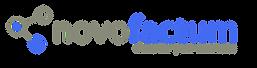 Logo novofactum mit Untertitel Transpare