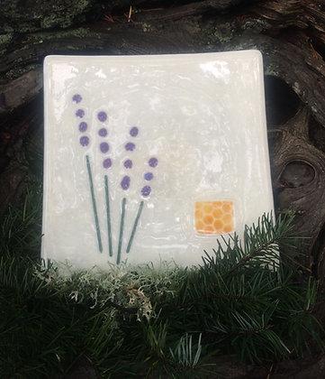 Lavender Collection: Large Lavender Sprig Plate