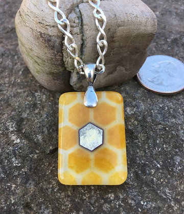 The Honeycomb Flower Pendant