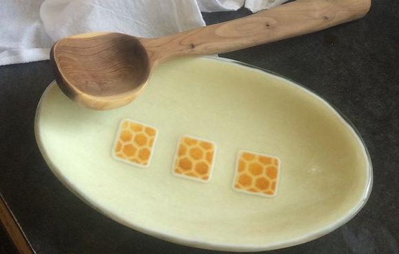 Oval Honeycomb Dish