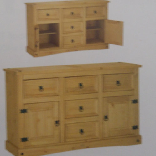 Corona Sideboard 2 Door and 5 Drawer