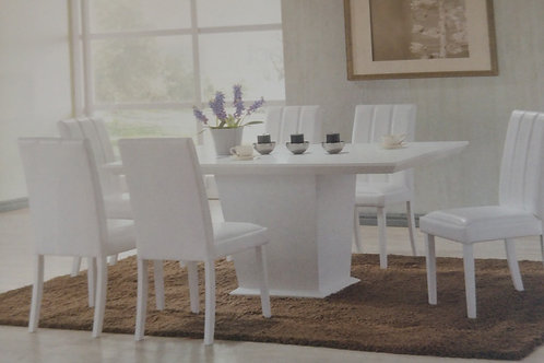 Feather Dining Table and 6 Chairs