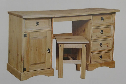 Corona 1 Door 5 Drawer Dressing Table and Stool