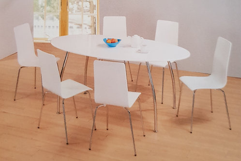 Fiji Oval Dining Table and 6 Chairs