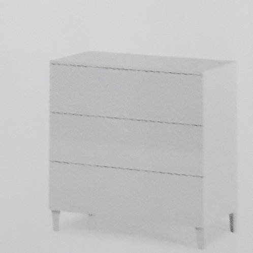 Arctic 3 Drawer Chest of Drawers